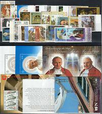 """2014 Vaticano """"ANNATA COMPLETA"""" 26V + 5BF + 1 L MNH NUOVI LUSSO**"""