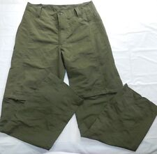 MENS PANTS & shorts THE NORTH FACE size 30 green convertible hiking 30 inseam