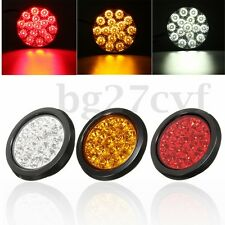 Pair 16 LED Rear Round Tail Brake Marker Light Indicator Lorry Truck Trailer