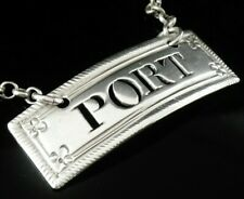 Antique Silver PORT Decanter Label, Margaret Binley c.1770