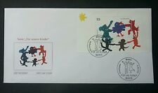 Germany For Our Children 2003 Painting Cartoon Bird Rabbit Elephant Rat Dog (FDC