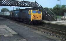 Diesel Locomotive Class 50 Blue livery Radley Oxfordshire unused 1970s postcard
