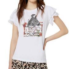 T-shirt Liu Jo donna FA0332J5950 bianca Zebra PE20
