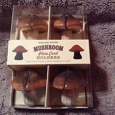 WILLIAMS SONOMA Easter WOODLND MUSHROOM Ceramic PLACE CARD HOLDERS NWT $29.9 Ret