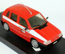 Giocher 1/43 Scale - Fiat Uno Vigili Del Fucco White Metal Model Car