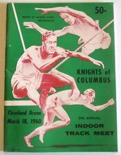 1960 Program KNIGHTS COLUMBUS INDOOR TRACK MEET Cleveland Arena MAX TRUEX TABORI