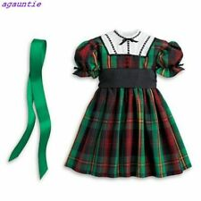 NewAmerican Girl Addy Christmas Holiday Green Plaid Outfit - DRESS & RIBBON Only