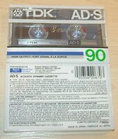 TWO (2) vintage rare TDK AD-S 90 min normal bias Tape for Cassette deck