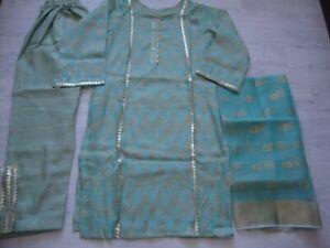 New Jacquard Banarsi  Lawn  Suit stitched Medium  Salwar Kameez  Summer SALE £25