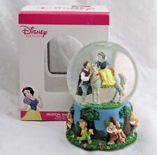 "Disney Snow White & Prince Musical Snowglobe ""I Love You Truly"" Enesco in Box"