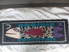 "Chris Roberts Antieau Authentic Original Art Fabric Applique On Board 12"" X 34"""