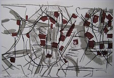 RIOPELLE JEAN PAUL 3 LITHOGRAPHIES ORIGINALES DLM N208 1974 3 LITHOGRAPHS QUÉBEC