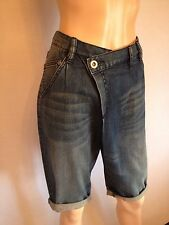 Max Azria BCBG designer jean short en jean taille uk 14 new womens ff6 relaxed fit