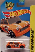 Hotwheels USA Orange  mini cooper S, Mint carded.
