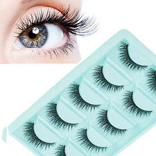 5 Pair Natural Eye Lashes Handmade Messy Cross False Eyelashes Makeup Long Black