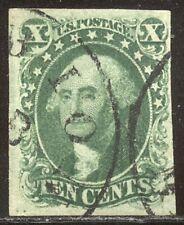 U.S. #13 SCARCE Used BEAUTY w/Cert - 10c Green, Type I
