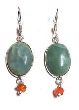 925 Sterling Silver Natural Amazonite Gemstone Earring Christmas Gift