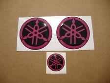 YZF R1, R6 silicone 3D gel emblems gas tank stickers badges logo r125 fazer pink