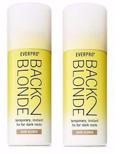 2 Set New Everpro Back 2 Dark Blonde Temporary Instant Fix Hair Color Spray
