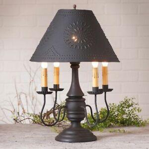 Jamestown Table Lamp in Hartford Black with Black Tin Shade