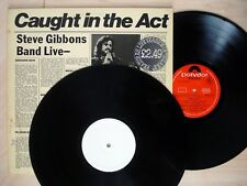 Steve Gibbons Band Caught In The Act PROMO UK LP Polydor 2478 112 1977 EX/EX/EX