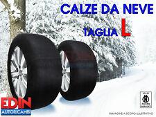 CALZE DA NEVE OMOLOGATE AUTO TAGLIA L PER PNEUMATICI 215/55R17 215/55/17