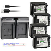 Kastar Battery Dual USB Charger for Canon BP-809 Canon VIXIA HF S30 HFS30 Camera