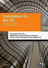 Foundations for the LPC 2016-2017 (Legal Practice Course Manuals) by Firth, Cla