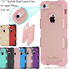For iPhone SE 5s 5 Hybrid Shockproof Rugged Rubber Defender Matte Case Cover