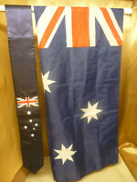 "International Australia Flag Sash 4 1/2""x 68"" and Australian Flag 3'x 5'"