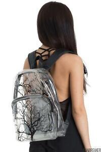 Jawbreaker Womens Clear Branch Backpack  Alternative Gothic