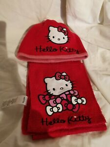 HELLO KITTY girls Hat And Scarf Set Age 4-8