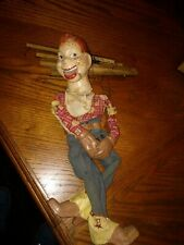 """15.5"""" Antique Vintage 1950's Howdy Doody Cowboy Puppet Marionette * as is"""