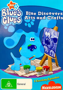 Dd9🆕sealed-Blue's Clues Blue Discovers Arts and Crafts DVD Region 4 🇦🇺Rare