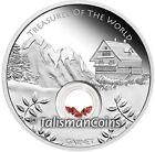 Australia 2013 Treasures of World 1 Europe Red Garnets Locket $1 Silver Dollar