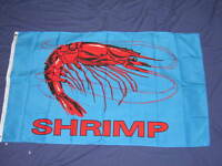 3X5 SHRIMP FLAG SEAFOOD FLAGS NEW BANNER SIGN F814