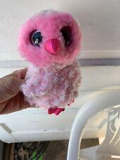 2017 Ty Beanie Baby Boos Twiggy Owl Pink Plush Stuffed Animal Bird Doll B20