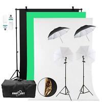 Continuous Lighting Photography Studio Background Softbox 2x 150W Video Photo UK