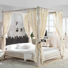 himmelbett in wei g nstig kaufen ebay. Black Bedroom Furniture Sets. Home Design Ideas