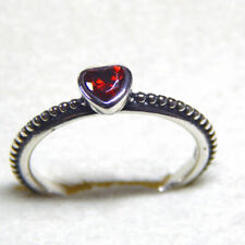 Authentic PANDORA 925 Silver One Love Ring Red Scarlet Synthetic Ruby 190896SGR 8.5 US (58 Eu)