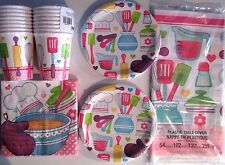 LITTLE CHEF Birthday Party Supply Set Pack Kit for 16