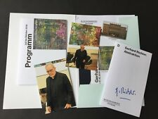 GERHARD RICHTER  In-person signed Museumsheft 13x21 RARITÄT Pressemappe + Foto