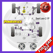 Seat Leon Mk2 05-12 Powerflex Full Bush Kit Front Wishbone Frt Bushes Camber Adj