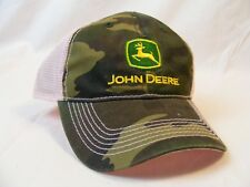 Women's John Deere Snap Back Ball Cap Womens Camo and Pink New