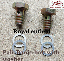 MOTOR CYCLE BIKE ROYAL ENFIELD BULLET OIL PIPE BANJO WASHER & BOLT KIT#144591