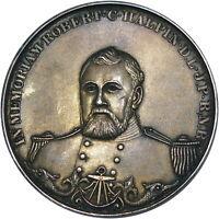 1894 G. BRITAIN ROBERT C. HALPIN RARE SILVER SWIMMING MEDAL ~ CHOICE MINT STATE!
