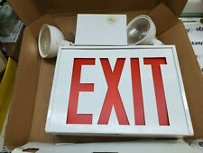 Lithonia New York Approved Exit Signemergency Light Combo Lhxnyw1rm2 2xlf9
