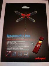 AUDIOQUEST DRAGONFLY RED MQA DAC USB USCITA CUFFIA SIGILLATA GARANZIA UFFICIALE