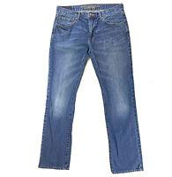 AEO American Eagle 32 x 34  Mens Original Straight Blue Jeans