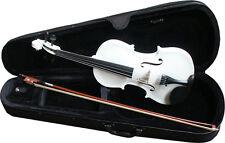 Violinen/Geigen-Set 4/4,weiss-Koffer,Bogen,Kinnstütze,Feinstimmer,Kolofonium!n